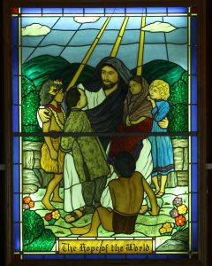 Knox, stained glass window